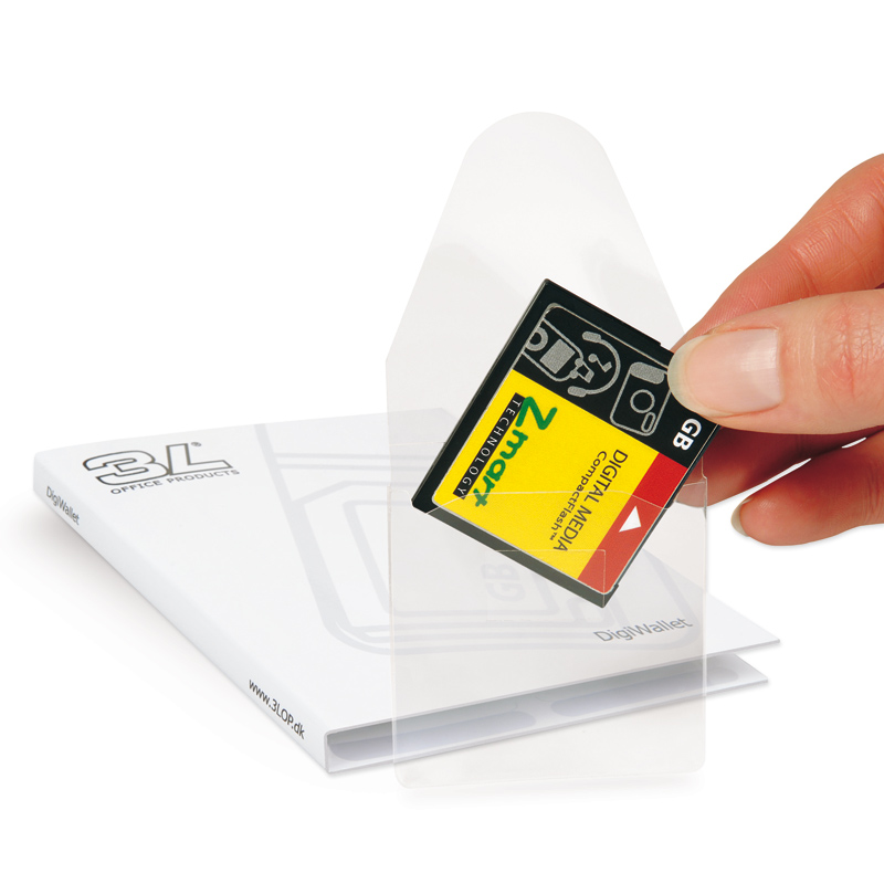 Self-Adhesive Memory Card Pockets