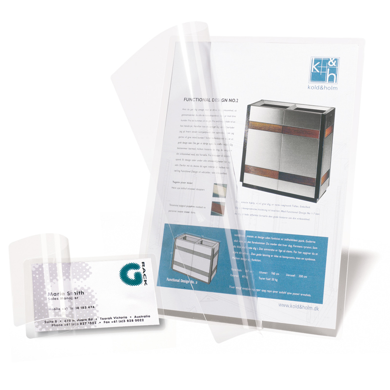 Self-Laminating Cards - Credit Card, Business Card & Letter Size