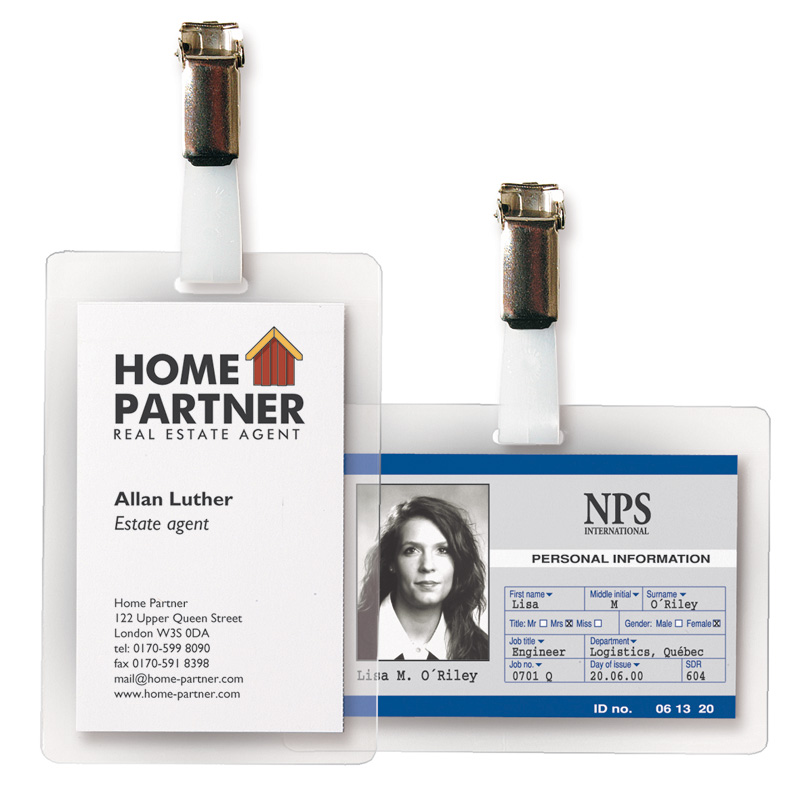 "Self-Laminating ID Badges - 3"" x 4"""