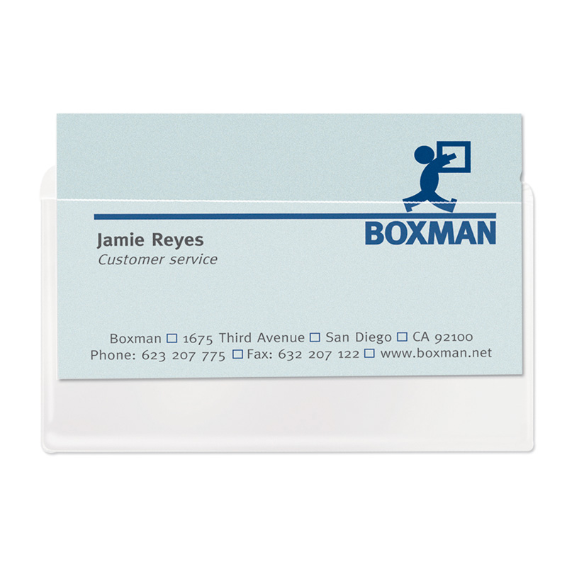 Self-Adhesive Business Card Pockets - Top Load
